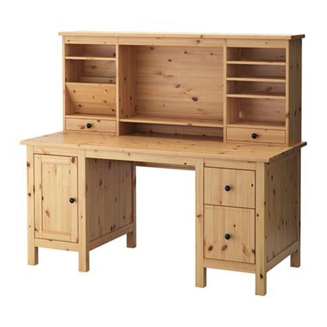 desk with light hemnes desk with add on unit light brown 155x137 cm ikea