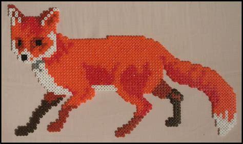 perler bead fox pin by hemingway on perler