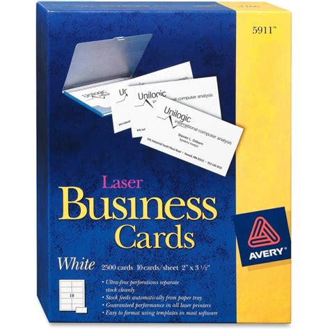 does officemax make business cards avery 5911 business card for laser print 2 quot x 3 50
