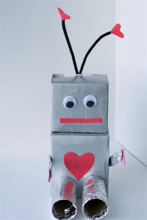 robot crafts for robot box and fueling creativity in glue