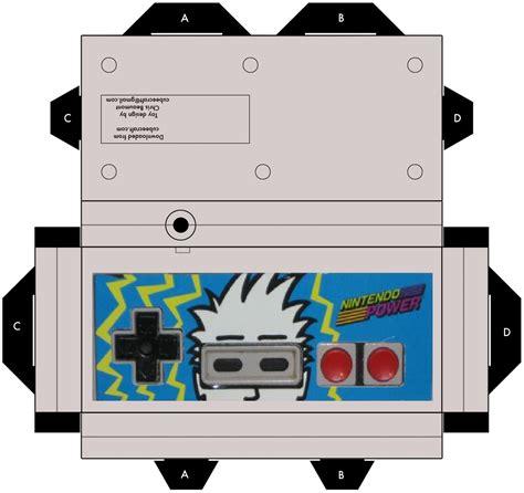 nintendo paper craft nintendo power controller papercraft by zacharylunsfordart