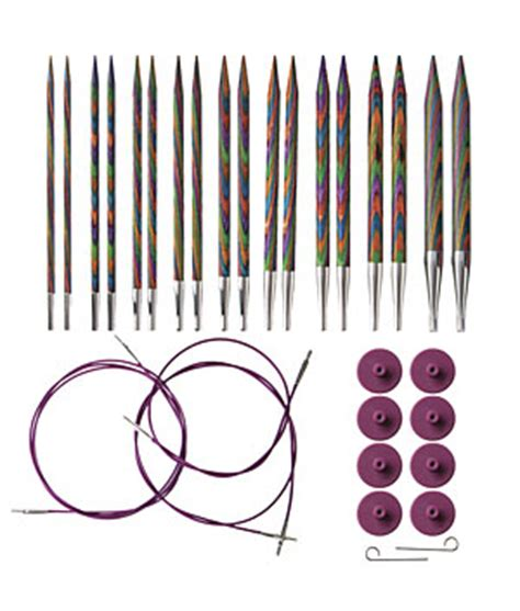 knit picks cables options interchangeable rainbow wood circular knitting