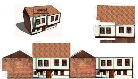 paper houses craft papercraft house eskisehir odunpazari maketi by