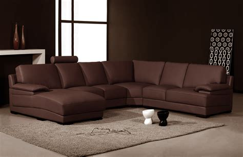 brown leather sofa sectional 2227 modern brown leather sectional sofa