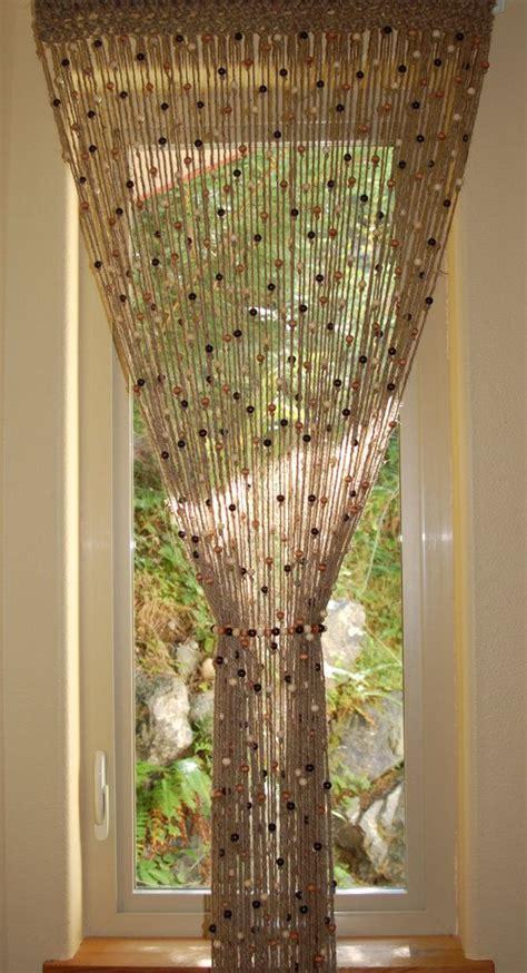 doorway beaded curtains jute crochet curtain door window with wooden