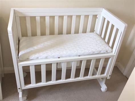 troll baby crib lewis troll bedside crib co sleeper cot white