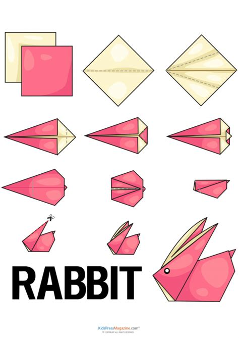 simple easy origami easy origami rabbit kidspressmagazine