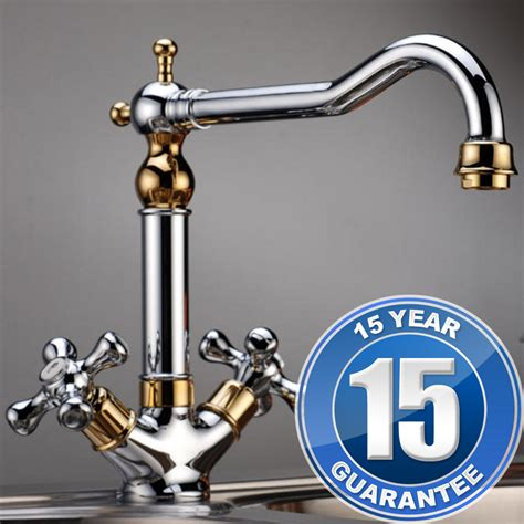 traditional kitchen sink taps traditional gold chrome handle swivel spout kitchen