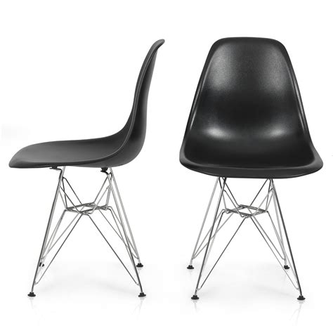 Eames Style Plastic Chair by 2x Eames Style Dsw Modern Eiffel Side Chair Molded Abs