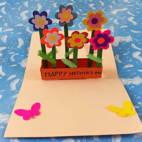 how to make a flower pop up card diy pop up flower s day card mothers flower and
