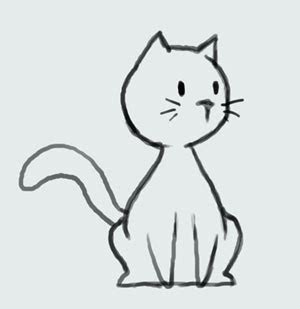 cat simple learn how to draw cat step by step