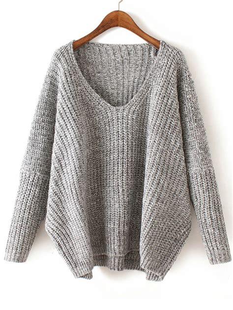 how to knit v neck sweater v neck chunky knit pale grey dolman sweater