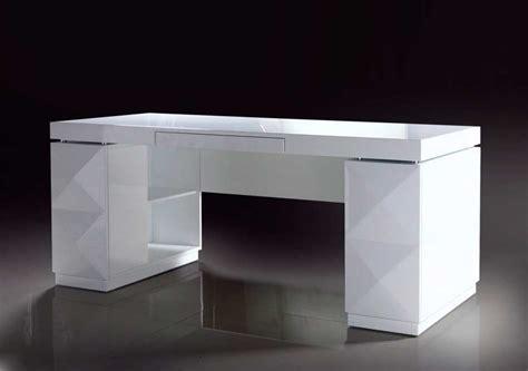 white modern office desk modern white lacquer office desk desks