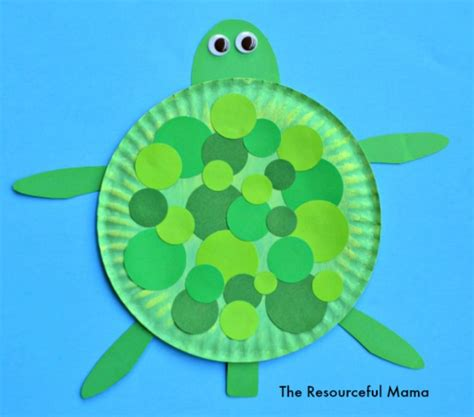 turtle paper craft paper plate turtle craft the resourceful