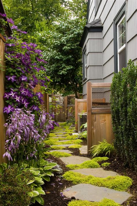 garden ideas for side of house dilemma in landscaping narrow side yards macy