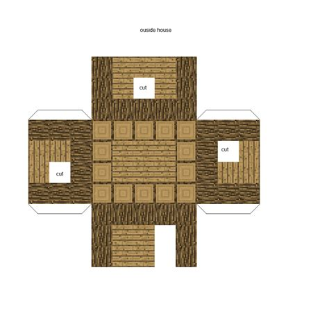 paper craft house papercraft minecraft house search results calendar 2015