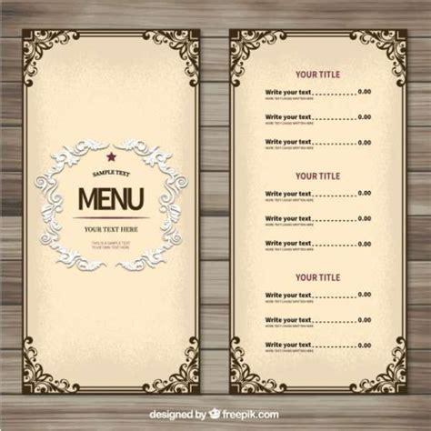 25 best ideas about menu templates on pinterest