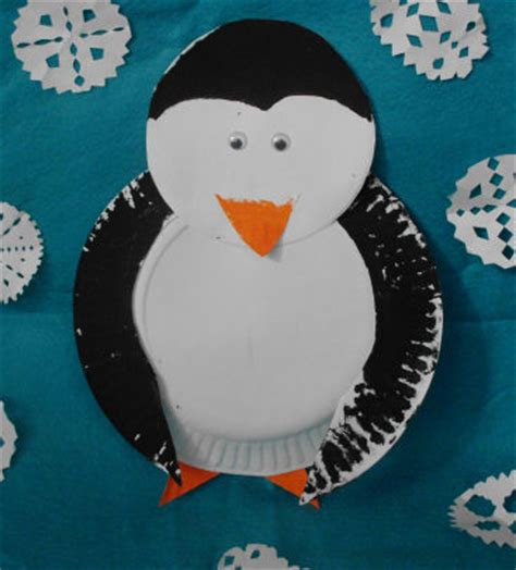 penguin paper plate craft paper plate penguin craft project for