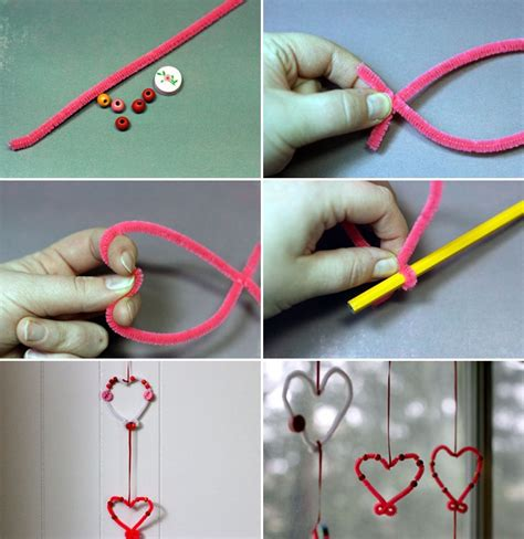 easy crafts for at home valentines day crafts easy home decor garlands pipe