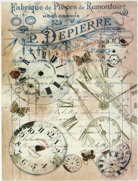 retro decoupage paper rice paper montres for decoupage scrapbooking sheet
