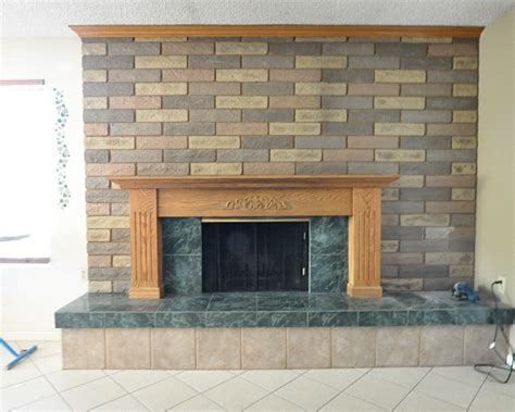 fireplace tiles how to re tile a fireplace surround home improvement