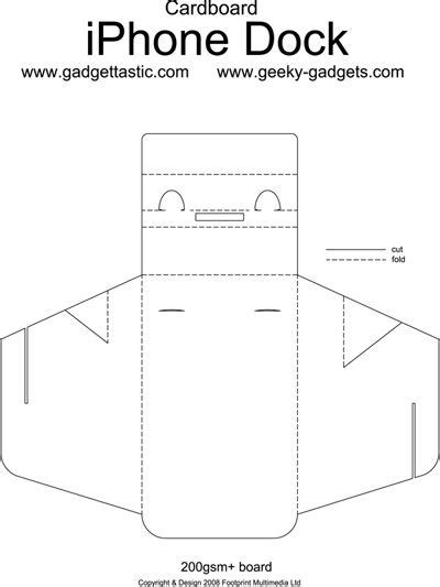 origami iphone stand folding cardboard iphone dock you could use it on any