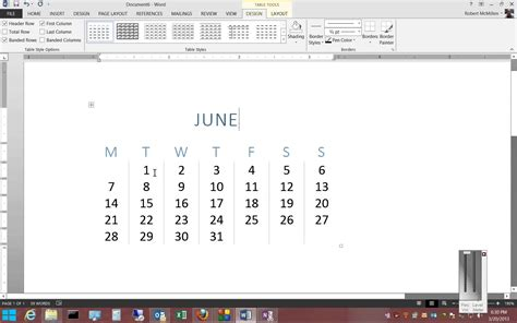 how to insert how to insert a calendar in microsoft word 2013