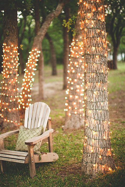 how to wrap lights around a tree here s a great idea wrap lights around tree trunks