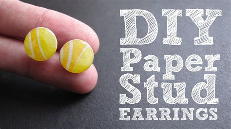 how to make sted jewelry diy paper stud earrings colorful upcycled jewelry