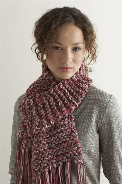knitted or knit knit two hours or less scarf favecrafts