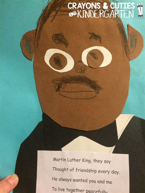 mlk crafts for crayons cuties in kindergarten martin luther king jr craft