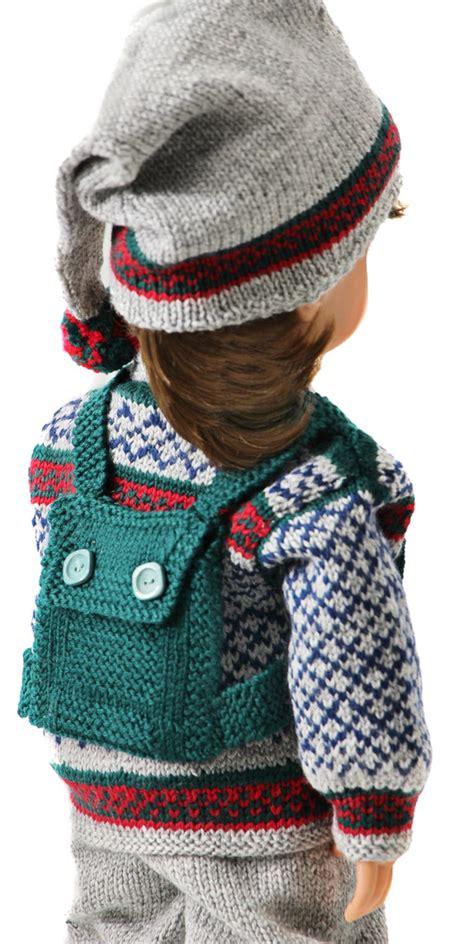 doll cardigan knitting pattern american doll sweater pattern