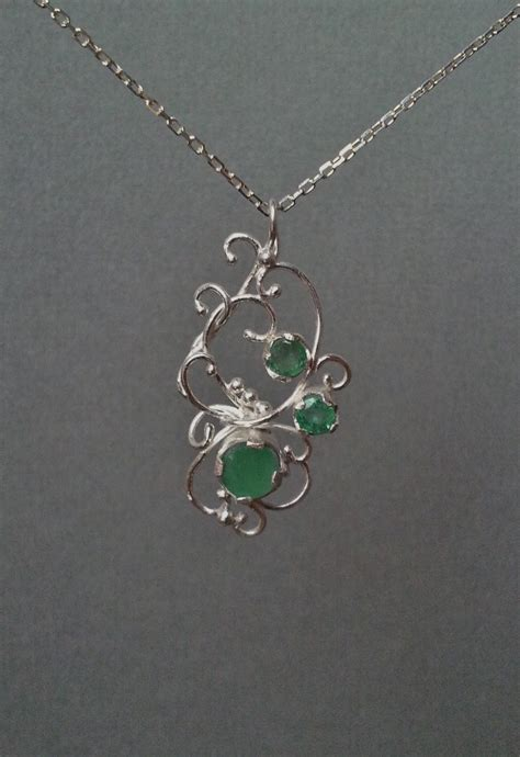 filigree for jewelry jewelry quot three emerald and filigree pendant