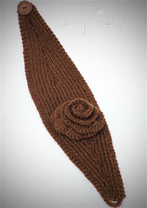 knitted ear warmer pattern knit ear warmer pattern with flower crochet knitted