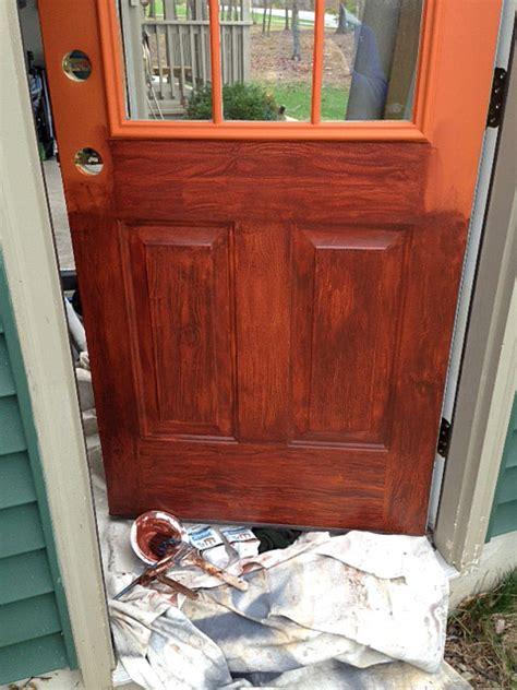 paint colors look like wood faux wood door wood grain paint technique how to paint
