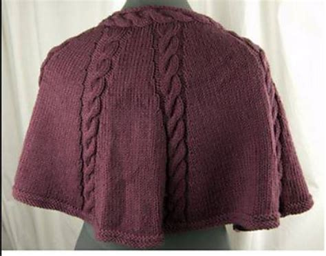 capelet knitting patterns knitting patterns galore longwood capelet