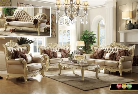 wood living room set traditional living room set w pearl bonded leather and