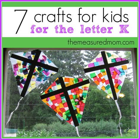 crafts and activities for crafts for letter k the measured