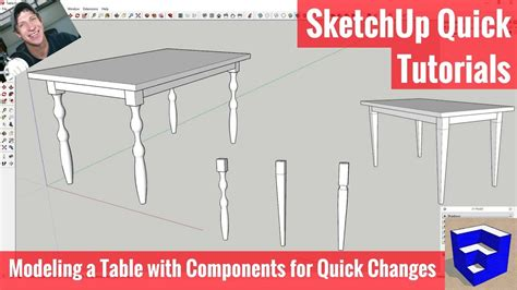 sketchup woodworking tutorial modeling options with components for woodworkers in