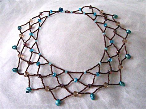 how to make bead jewelry patterns beaded lace necklace tutorial happy family