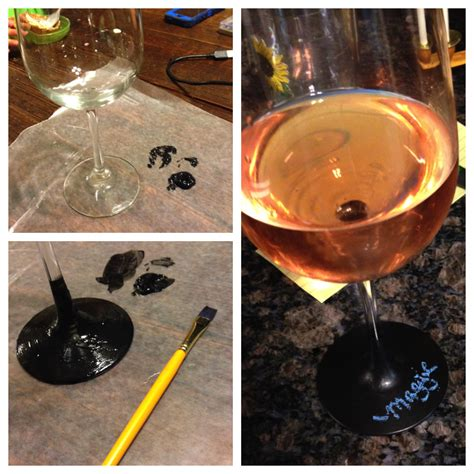 diy chalk paint on glass chalkboard paint wine glasses diy for