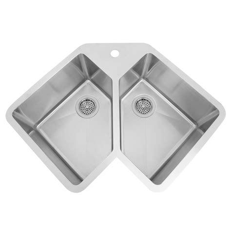 corner kitchen sinks stainless steel 33 quot infinite corner stainless steel undermount sink kitchen