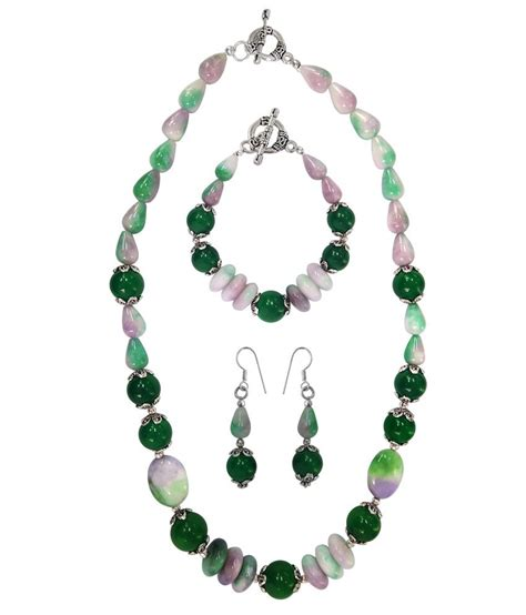 where to buy pieces to make jewelry pearlz dyed quartzite 3 pieces necklace set