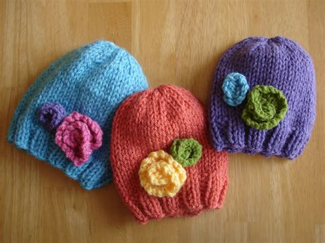 knit newborn baby hats free patterns fiber flux free knitting pattern baby in bloom hats