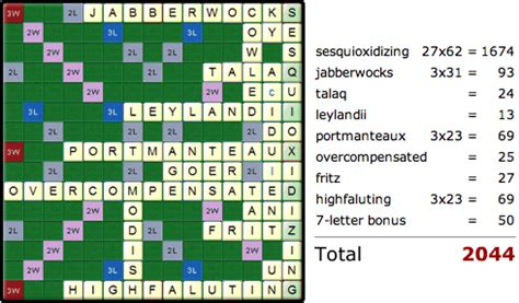 best scrabble score serial this theoretically is the highest possible