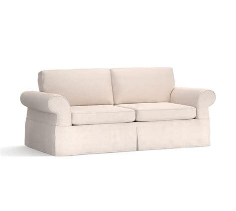 slipcovered sleeper sofas pearce slipcovered sleeper sofa pottery barn