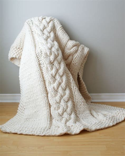 chunky cable knit blanket pattern throw blanket chunky cable acrylic throw