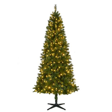 window tree with lights 7 5 ft pre lit led foxtail fir artificial