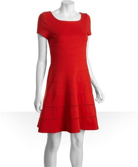jersey knit dress max cleo persimmon stretch jersey knit kate seamed dress