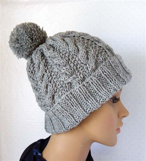 pom pom beanie knitting pattern knitting pattern knitted cable beanie womens chunky knit